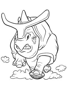 Ice age couple coloring page images