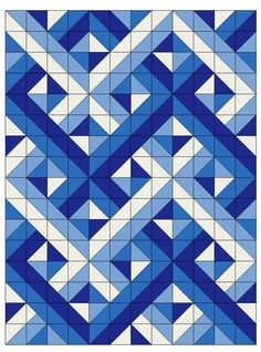 Half Square Triangle Quilts Pattern, Half Square Triangles, Square Quilt, Triangle Quilt Tutorials, 3d Quilts, Blue Quilts, Scrappy Quilts, Patchwork Quilting, Art Quilting