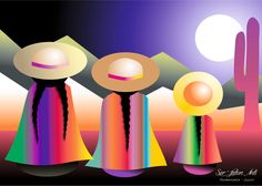 Tole Painting, Watercolor Paintings, Tableau Pop Art, Mexican Paintings, Peruvian Art, Southwest Art, Mexican Folk Art, Rock Art, Painted Rocks