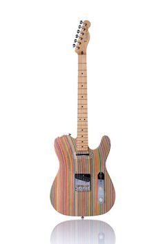 Guitar made of recycled skateboards