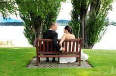 A couple soaking in the Wanaka scenery at Edgewater Resort Wanaka.  http://www.edgewater.co.nz/resort/weddings/