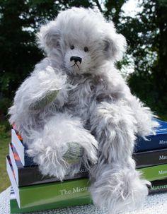 One of a kind 8 inch mohair bent-legged bear
