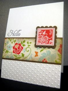 Like the partial embossing with fresh vintage inchie
