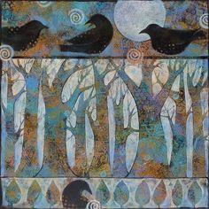 acrylic painting by Sue Davis on Etsy Art Inspiration Drawing, Inspirational Artwork, Mixed Media Canvas, Acrylic Art, Tree Art, Art Sketchbook, Bird Art, Art Techniques, Art Tutorials
