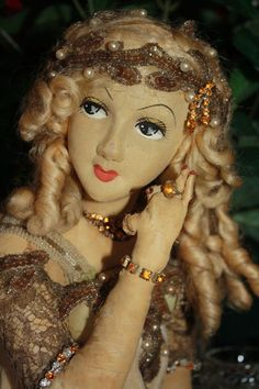 GORGEOUS Early Smoking French Display boudoir doll from ribbonsantiques ❤❤❤