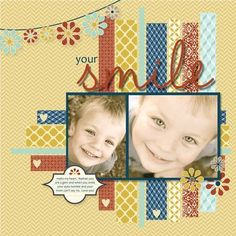 by Heather Summers, Stamp with Heather...love the paper strips with hearts punched out and the banner too!