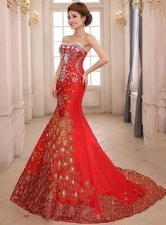 Beading Embroidery Court Train Evening Dress Elegant Evening Dresses- ericdress.com 11172263