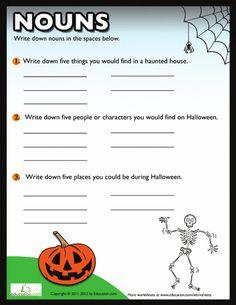 Worksheets: Halloween Nouns