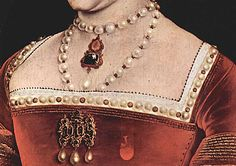 Jane Seymour, detail painting from Holbein, 1536