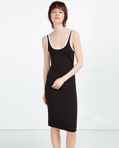 zara | striped sleeveless dress  nyc