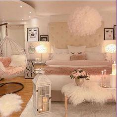 57 Cozy teen girl bedroom design trends for 2019 ., 57 Cozy teen girl bedroom design trends for 2019 # girlsbedroom- - # room furnishings. Cute Bedroom Decor, Room Design Bedroom, Stylish Bedroom, Room Ideas Bedroom, Elegant Girls Bedroom, Girls Bedroom Decorating, Bedroom Themes, Bedroom Colors, Bed Room