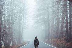Nevoeiro, Névoa, Estrada, Perdeu, Menina, Estranha