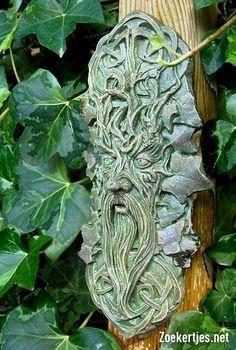 Celtic Green Man | Tweedehands te koop Celtic Green Man - antiek - beelden