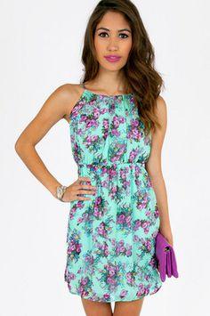 Eve Floral Tank Dress $37 at www.tobi.com