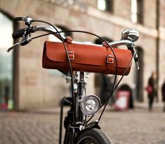 Pashely Leather Bottle Bicycle Bar Bag. Made in England.•Pashley•The Collection•Accessories  Attire