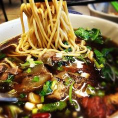 Taiwanese Beef Stewed Noodle Soup from House of Mandarin Noodle.