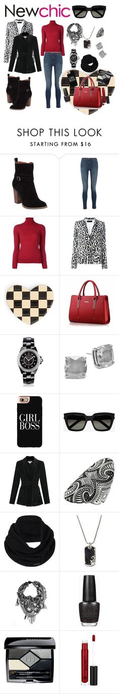"""NewChic Lil Red Bag"" by michele-nyc ❤ liked on Polyvore featuring Lucky Brand, J Brand, Golden Goose, Alexandre Vauthier, Marc Jacobs, Chanel, Kate Spade, Casetify, Yves Saint Laurent and Thomas Sabo"