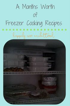 Looking for recipes that won't keep you in the kitchen all day? Here is a months worth of freezer cooking recipes that will save you time.
