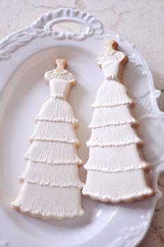 Lace Bridal Gown Cookies- 10 pcs