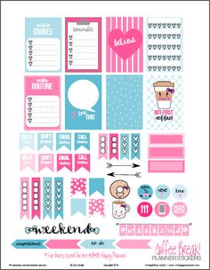 Free Coffee Break Planner Stickers from Vintage Glam Studio