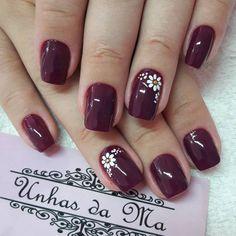 How to choose your fake nails? - My Nails Acrylic Nail Designs, Nail Art Designs, Acrylic Nails, Flower Nail Designs, Maroon Nails, Pink Nails, Cute Nails, Pretty Nails, Powder Nails