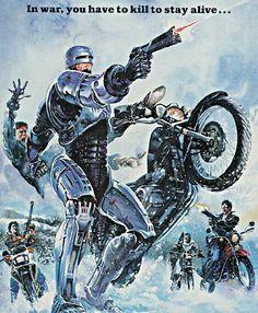"""""""Robocop"""" movie poster art"""
