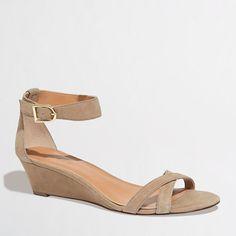 Factory demi-wedge sandals - Seasonal - FactoryWomen's Shoes - J.Crew Factory