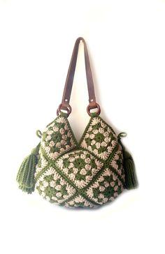 Grande borsa a tracolla manici in vera pelle ecru borsa