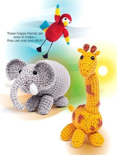 AA871526 - Tunisian Amigurumi - $8.99 Combine Tunisian crochet with Amigurumi and you've got a winning pattern book! This book includes six designs. Each toy is worked flat using Tunisian crochet and seamed invisibly using the mattress stitch and then stuffed to create an adorable animal. The toys are perfect for beginners and are all quite large at around 12 inches tall. All are made using worsted-weight yarn by Premier Yarns.