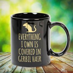 Everything I Own Is Covered In Gerbil Hair great gift for yourself gerbil lovers, family, friends or any men, women who loves gerbil. - get yours by clicking the link in my profile bio. Doberman Pinscher Dog, Gsd Dog, Cat Lover Gifts, Cat Gifts, Everything I Own, Doberman Love, Gerbil, Ferret, Siberian Husky Dog