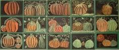 oil pastel pumpkins + black paper - great for October!!!