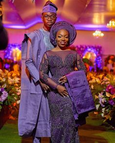 Image may contain: 2 people, people standing Nigerian Wedding Dresses Traditional, Traditional Wedding Attire, African Traditional Wedding, African Wedding Attire, African Attire, African Dress, African Clothes, African Style, African Inspired Fashion
