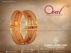 Wear the purest form of blessings around your wrist and get mesmerized with the amazing designs of gold. #suman_jewellery #bangle #design
