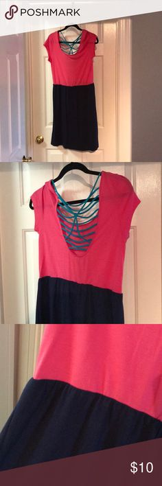 Dress Navy blue and pink dress. Charlotte Russe Dresses