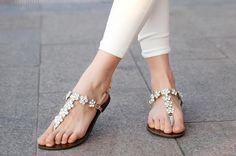Beaded Retro Sandals