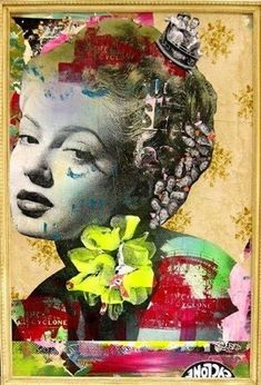Graffiti Artist Dain Teaches the French About American Beauty at the Lebenson Gallery, Paris collage on canvas Collages, Collage Art, Collage Ideas, Art Ideas, New York Graffiti, Street Art Graffiti, Fashion Collage, Fashion Art, Fashion Design