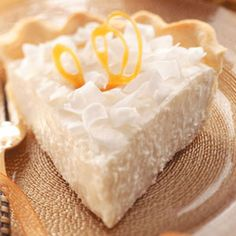 Coconut Chiffon Pie - Christmas Pie! Without a doubt I will be making this soon! I'm glad it doesn't call for expensive ingredients :)