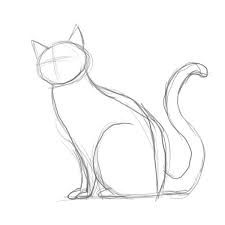 Image result for how to draw a sleeping cat step by step