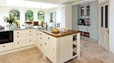 Modern Country Style: Modern Country Kitchen Colour Scheme  L shaped island!!!