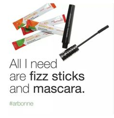 Fizz Sticks and Mascara!! Two of my favourites I couldn't live without. http://carolineemartin.arbonne.com/ ID:441279362