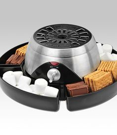 S'mores station. What a cool product for a sleepover, movie night or pretend camping. Awesome!!