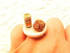 Kawaii Cute Japanese Ring Orange Juice And by SouZouCreations, $10.00