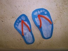 Footprint craft | am in absolute love with these footprint flip flops that my friends ...
