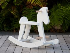 cute white rocking horse (ordered)