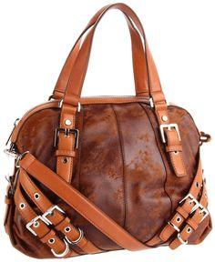 Micheal Kors Buccaneer Love All The Straps Brown Leather Satchel Replica Handbags