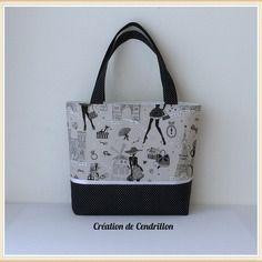 Collection mode sac cabas «moi paris» couture  fait main