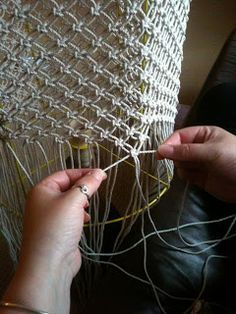 Macrame' lamp shade