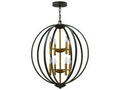 Hinkley Lighting Euclid Spanish Bronze Eight-Light Chandelier