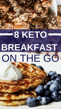 Keto breakfast on the go. Easy keto breakfast recipes for ketogenic diet for beginners. Make your mornings super quick and easy More from my site 11 Amazing Quick & Easy Keto Breakfast Ideas Quick Keto Breakfast, Breakfast On The Go, Breakfast Recipes, Breakfast Ideas, Ketogenic Breakfast, Breakfast Casserole, Dessert Recipes, Breakfast Biscuits, Breakfast Quiche