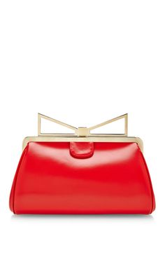 Shop Lady Me Leather Clutch by Sara Battaglia Now Available on Moda Operandi